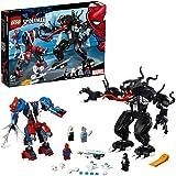 LEGO Super Heroes Robot-Araña vs. Venom, juguete de construcción para recrear las aventuras de Spider Man, incuye tambien minifigura de la Tía May (76115) , color/modelo surtido