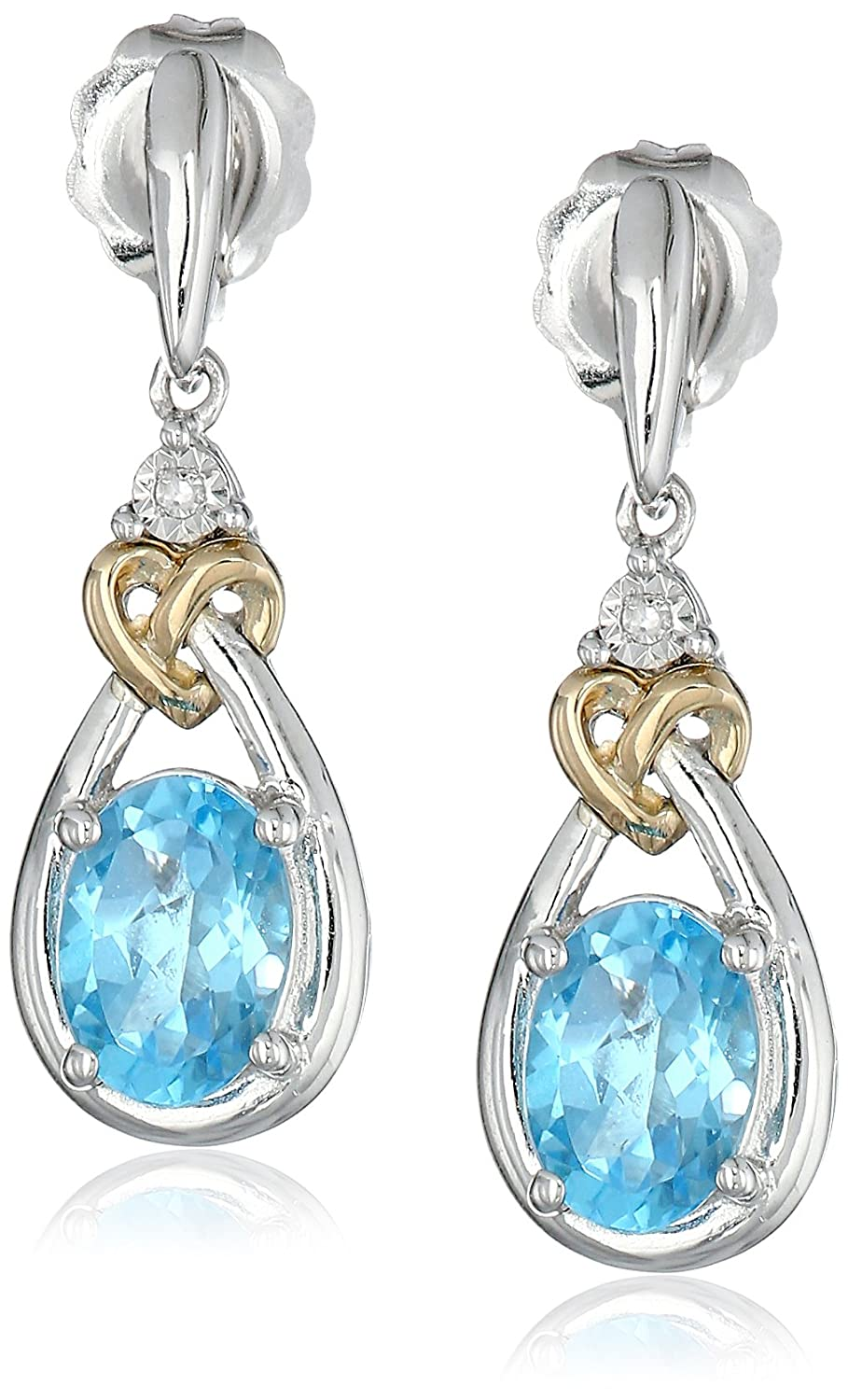 wid diamond prd stud heart hei sapphire accent sharpen product created op lab earrings sterling silver jsp white