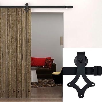 183cm herraje para puerta de corredera de madera puerta deslizante herraje para puertas corredizas - Puertas Correderas De Madera