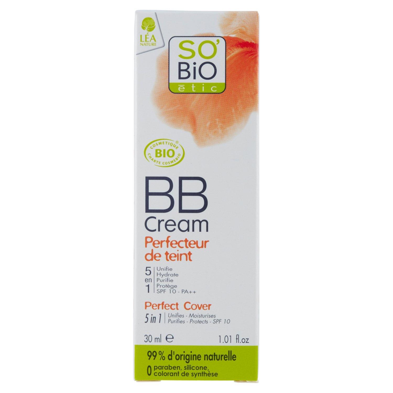 So'Bio Étic, BB Cream 5 in 1, 01 Beige Nude, 30 ml, 2 pz. So' Bio Étic LABORATOIRES NATESCIENCE SAS
