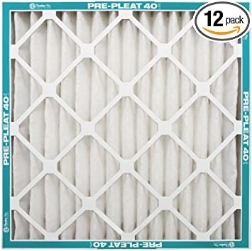 naturalaire pre-pleat 40 air filter, merv 8, 20 x 20 x 1-inch, 12 ...