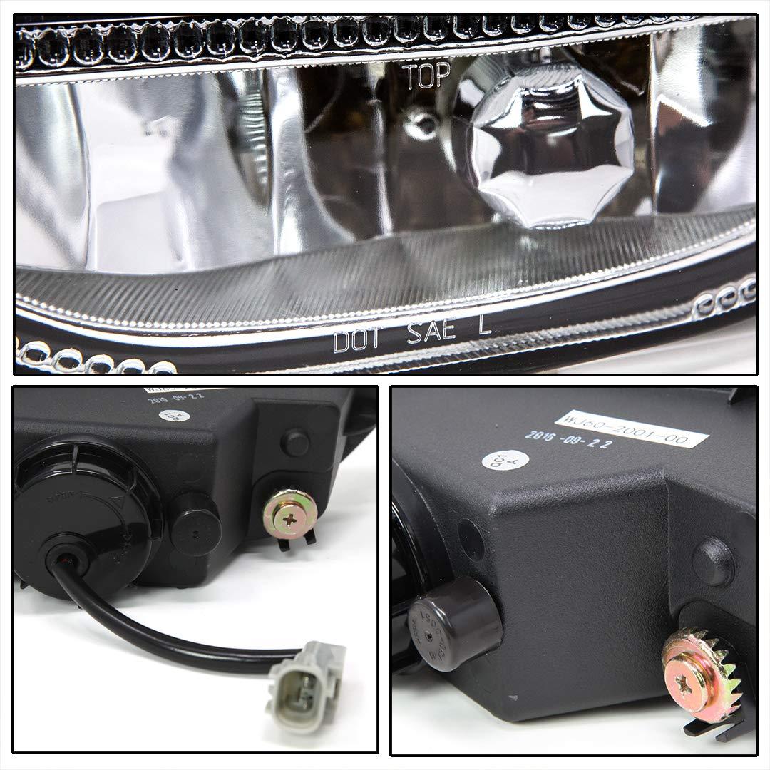 Right Passenger Side Fog Light Clear Lens 2001-2002 Toyota Corolla Winjet WJ60-2002-00 OEM Series for