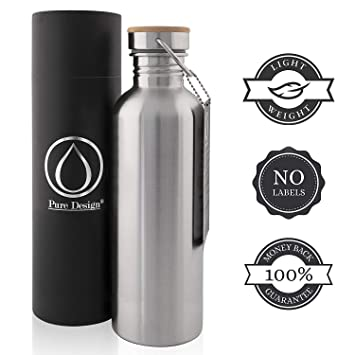 Pure Design®- Botella Térmica Acero Inoxidable para Niños ...