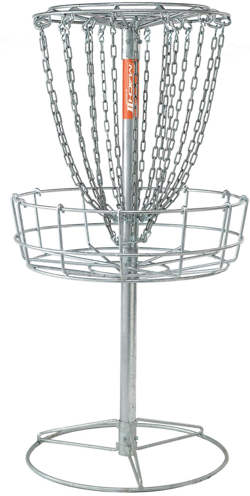 DGA Mach 2 Disc Golf Basket - Portable Heavy-Duty Outdoor Galvanized Steel Disc Golf Target by DGA
