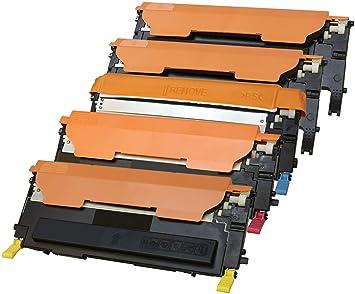 TONER EXPERTE® 5 Cartuchos de Tóner compatibles para Samsung CLP ...
