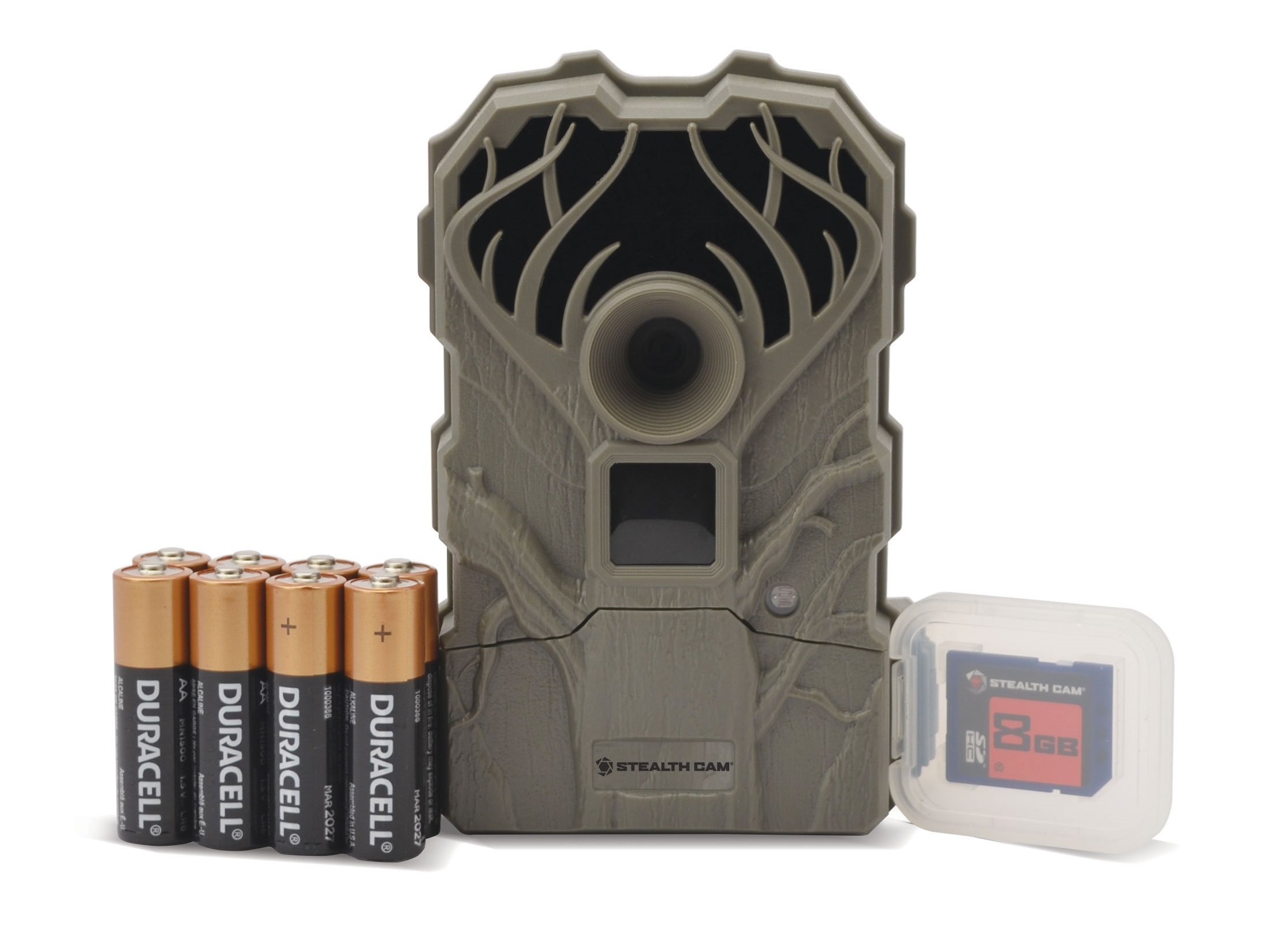 Stealth Cam Q2-USA Ultra Low Glo Infrared Game Camera Combo 12 Megapixel Gray