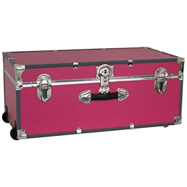 Seward Trunk Wheeled Footlocker, Pink