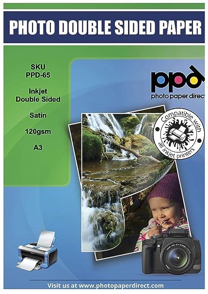PPD A3 Inkjet satén folleto, doble cara, papel de 120 g ...