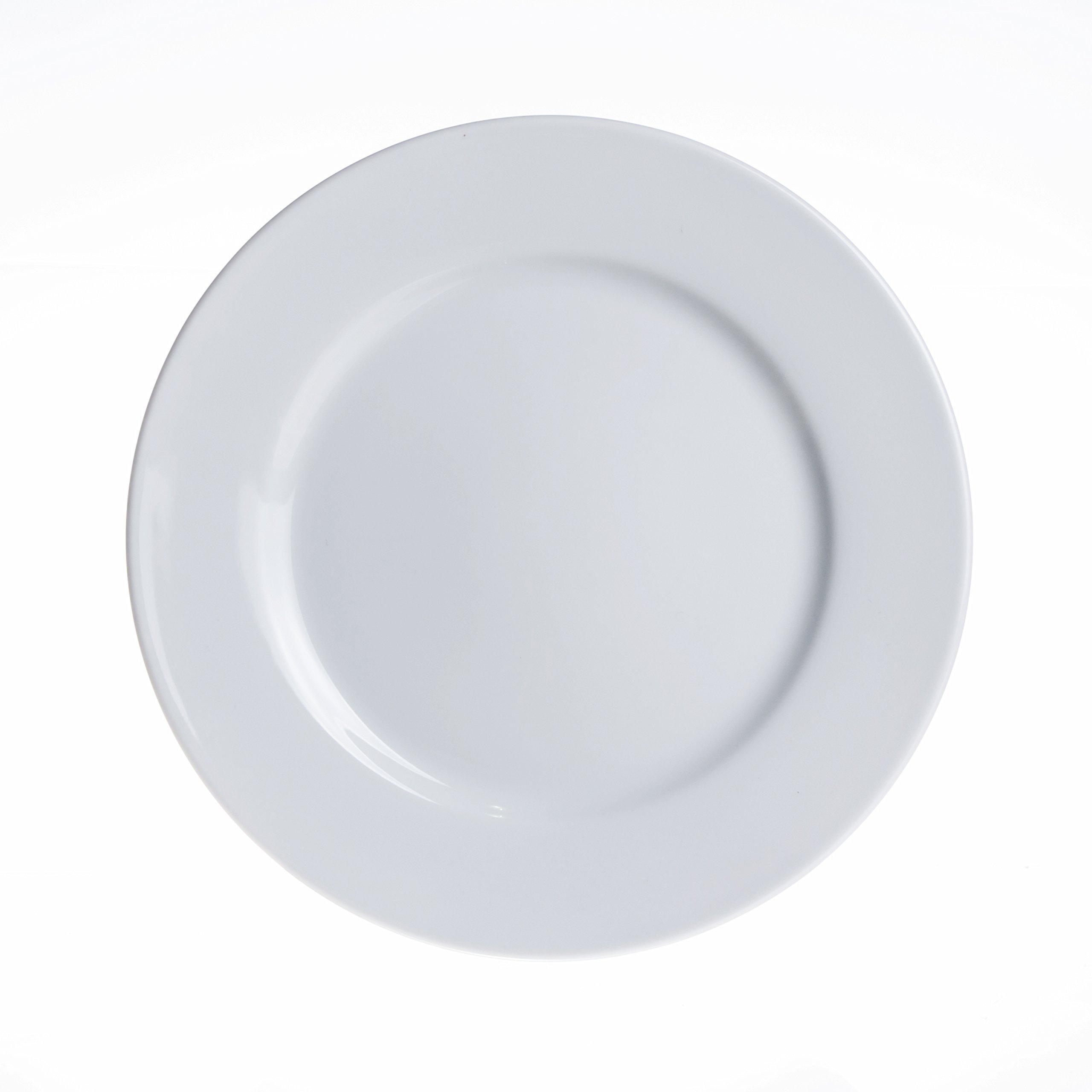 6-Piece Dinner/Soup/Dessert/Serving Plates Set, Durable White Porcelain, Restaurant&Hotel Quality (9'' Dinner Plates)