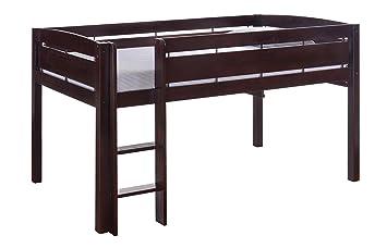 Amazon Com Canwood Whistler Junior Loft Bed Espresso Twin Sized