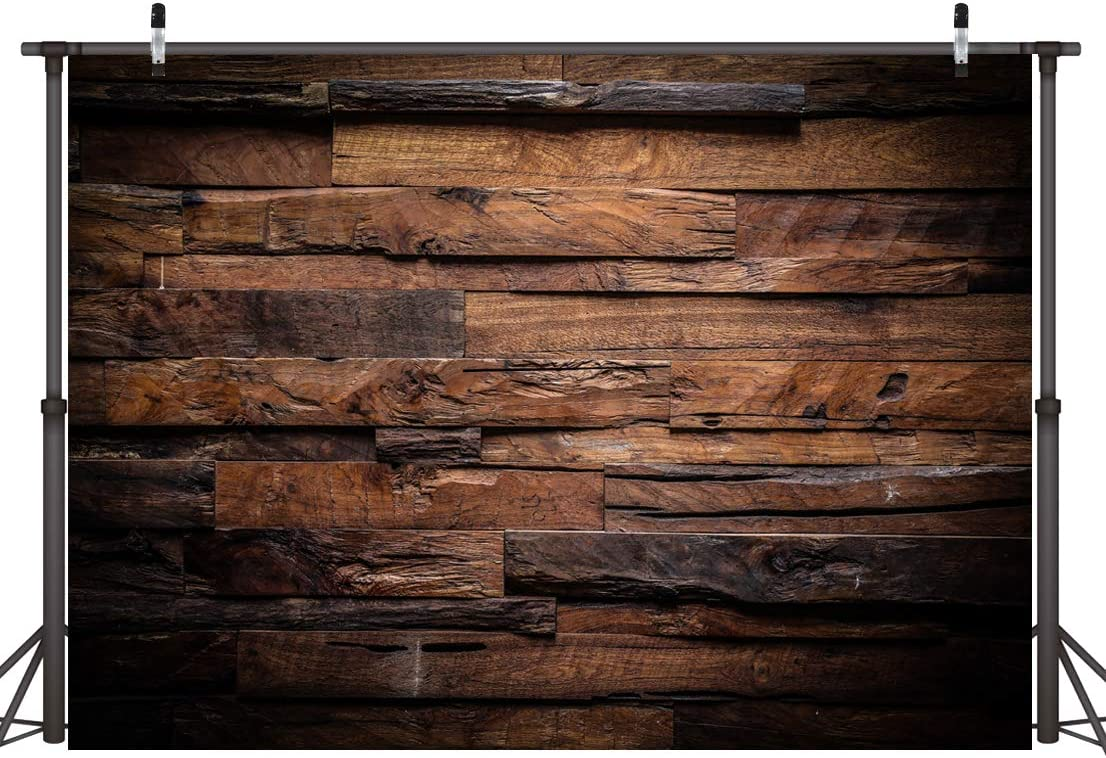 CYLYH 8x6ft Brown Wood Backdrop for Photography Customized Vintage Background for Photo Studio Props D104