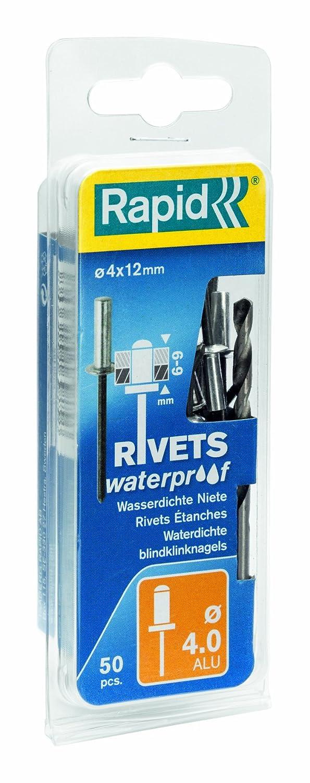 /ø4 mm Bohrer Rapid 5000401 4x16mm Blindniete Wasserdicht 50 St/ück Incl
