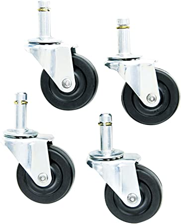 Amazon Com Standard Chairmat Casters 7 16 X 1 3 8 Stem 75 Lbs Caster Zinc 4 Set Furniture Decor