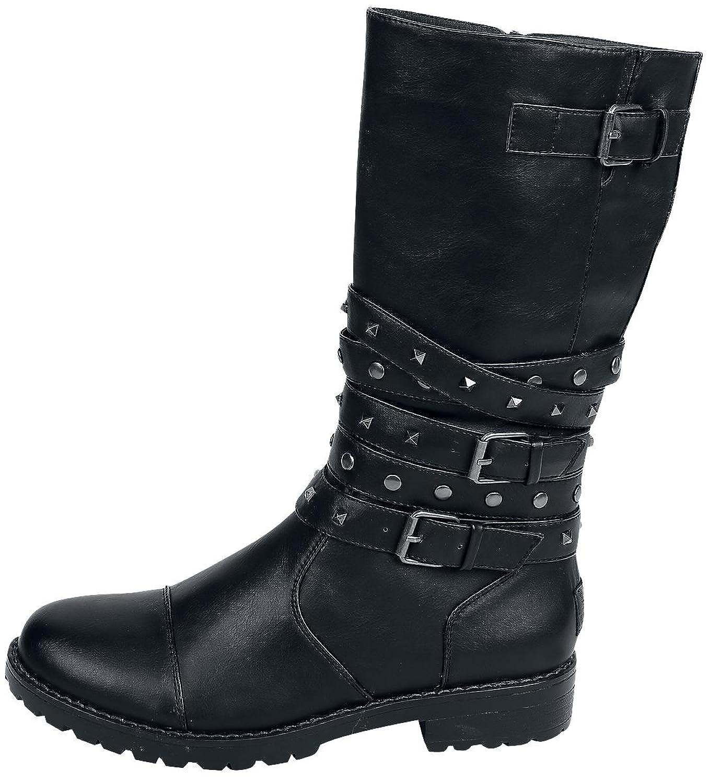 Black Premium by EMP - High Studded Strap Boot - Boots - schwarz IdYfs1z3l