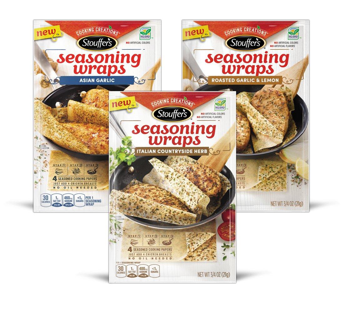 Stouffers Seasoning Wraps Multi Pack Box, 2.38 Ounce by Stouffer's
