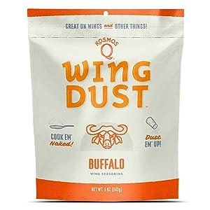 Kosmos Q Buffalo Wing Dust | Chicken Wing Seasoning | Dry BBQ Rub Spice | 5 oz. Bag