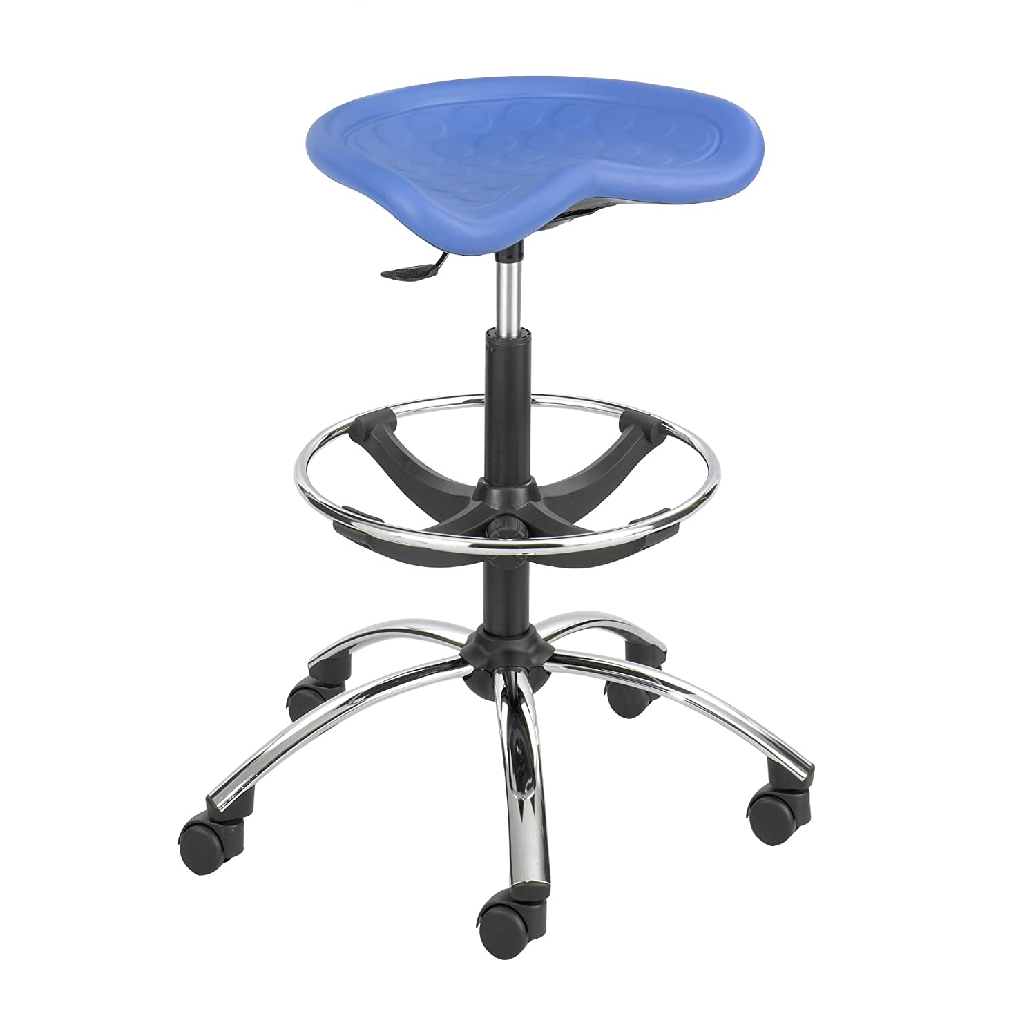 Amazon.com: Safco Products 6660BU SitStar Stool Chrome Base For Use With  SitStar Back (sold Separately), Blue: Kitchen U0026 Dining