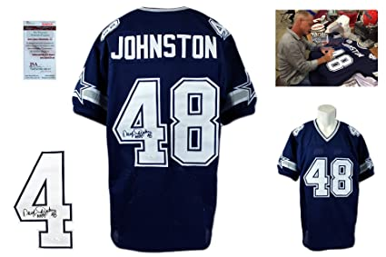 348e47542 Daryl Moose Johnston Signed Custom Jersey - Beckett - Autographed w  Photo