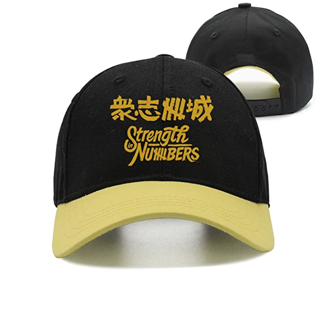 d5475c71732 Qqppii Strength in Numbers Slogan Chinese Character Kanji Graphic Womens  Mens Baseball Cap at Amazon Men s Clothing store