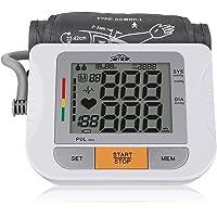 Oberarm Blutdruckmessgerät, SIMBR präziser medizinischer Blutdruckmessgerät mit extra großem LCD-Display, großer Manschette(22-42CM), 2 Benutzerm