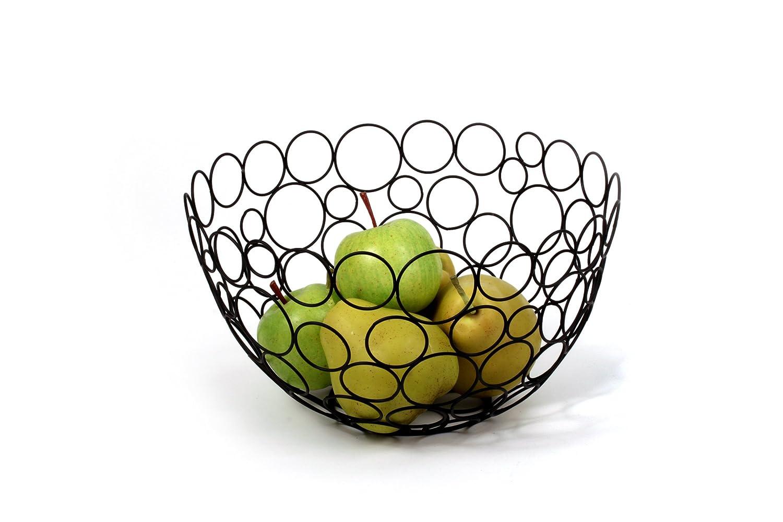 Amazon.com: Spectrum Diversified Shapes/Circles Round Fruit Bowl, Black:  Round Wire Basket: Kitchen & Dining