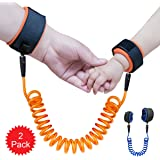 KUEN 2 Pack Safe Skin Friendly Anti Pricking Cotton Child Wrist Straps, Anti Lost Belt Toddler Safety Harness Kids Safety Leash Belts for Kids Runner Preschooler ( length up to 71 inches )