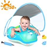 LAYCOL Baby Swimming Float Inflatable Baby Pool Float Ring Newest with Sun Protection Canopy,add Tail no flip Over for…