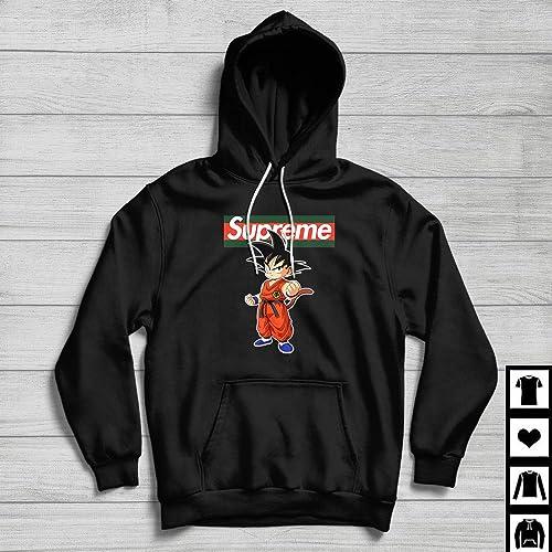 155f82b19c77 Amazon.com: Supreme X Gucci Son Goku - Dragon Ball Z Fan Gift T-Shirt  Hoodie Black: Handmade
