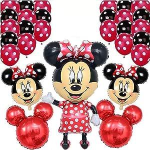 Amazon.com: CuteTrees Minnie Mouse - Juego de globos para ...