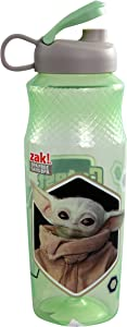 The Child Baby Yoda Star Wars Water Bottle - Baby Yoda Bottle Character Design, Reusable BPA Free Collectible Drinkware Sports Drinking Tumbler with Lid, Adult & Kids Water Bottle - 30 oz