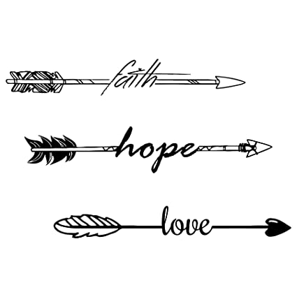 Wall Decals Quotes Faith Hope Love Quote Arrow Decal Indie Tribal