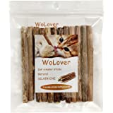WoLover Natural Silvervine Sticks for Cats, Catnip Sticks Matatabi Chew Sticks Teeth Molar Chew Toys for Cat Kitten…