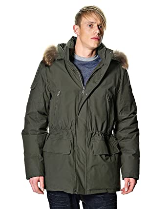 Canadiens Men&39s Winter Jacket 50/M Green at Amazon Men&39s Clothing