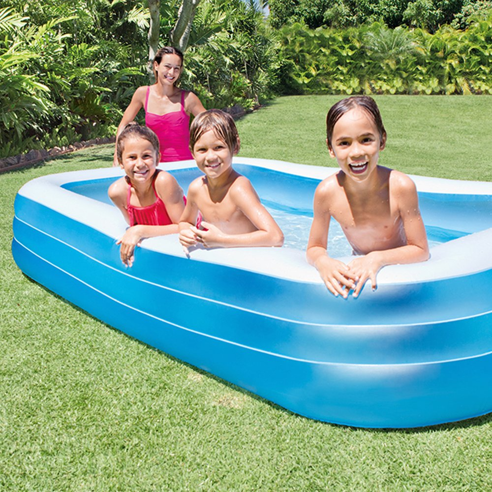 Intex Swim Center Family Inflatable Pool 120 X 72 X 22 For Ages