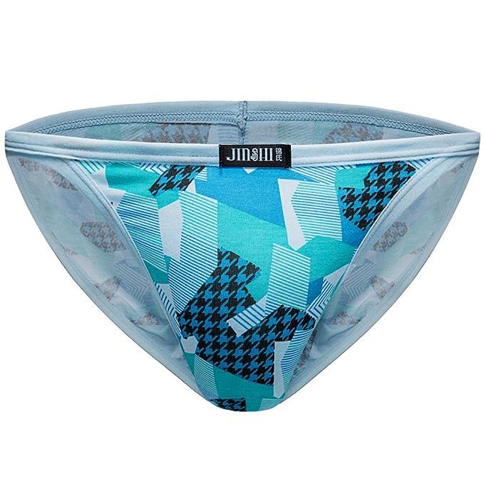 5076abc48293 JINSHI Mens Sexy Bikini Underwear Printed Panty Brief: Amazon.ca ...
