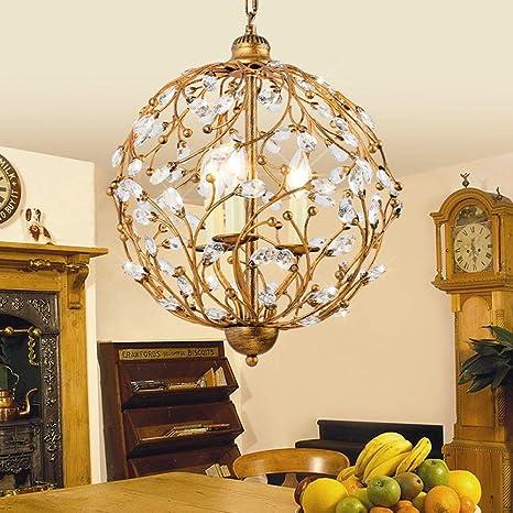 Lámparas de techo retro florentina luces de cristal ...