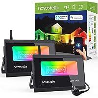 Novostella RGBCW Spotlight 20 W, set van 2 LED-spots, compatibel met Alexa Google Home, 3-in-1 RGBW schijnwerper, wifi…