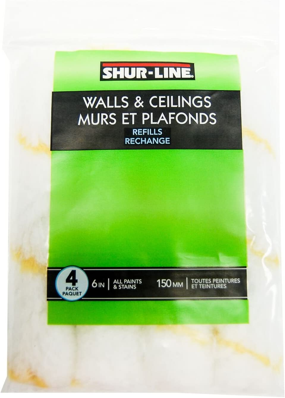 Contractor Pack of 6 Shur-Line 4965C 4-Inch Fabric Mini Roller Refills
