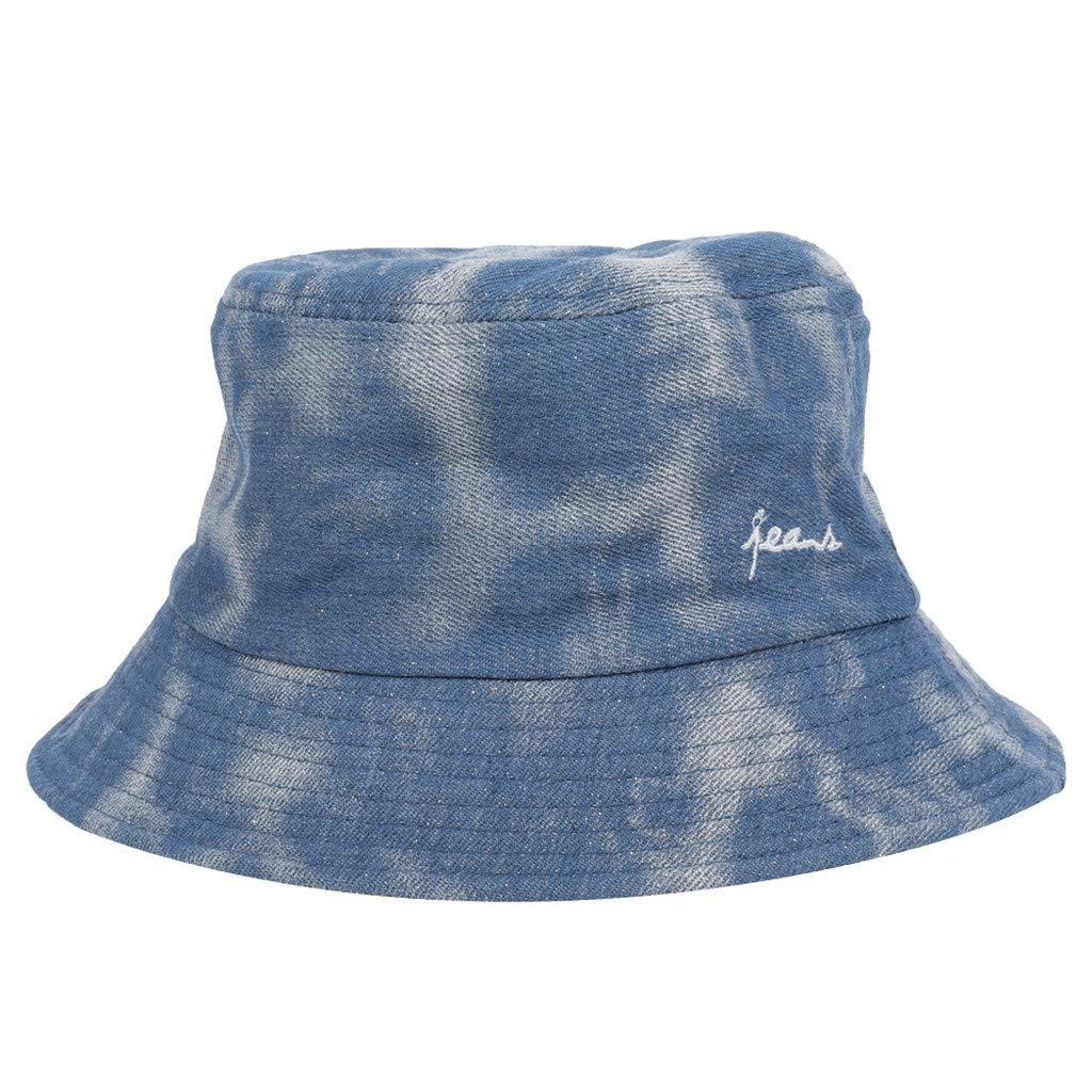Fashion Adults Packable Bucket Hat Summer Travel Sun Fishing Fisher Beach Festival Cap (Dark Blue, Free Size)