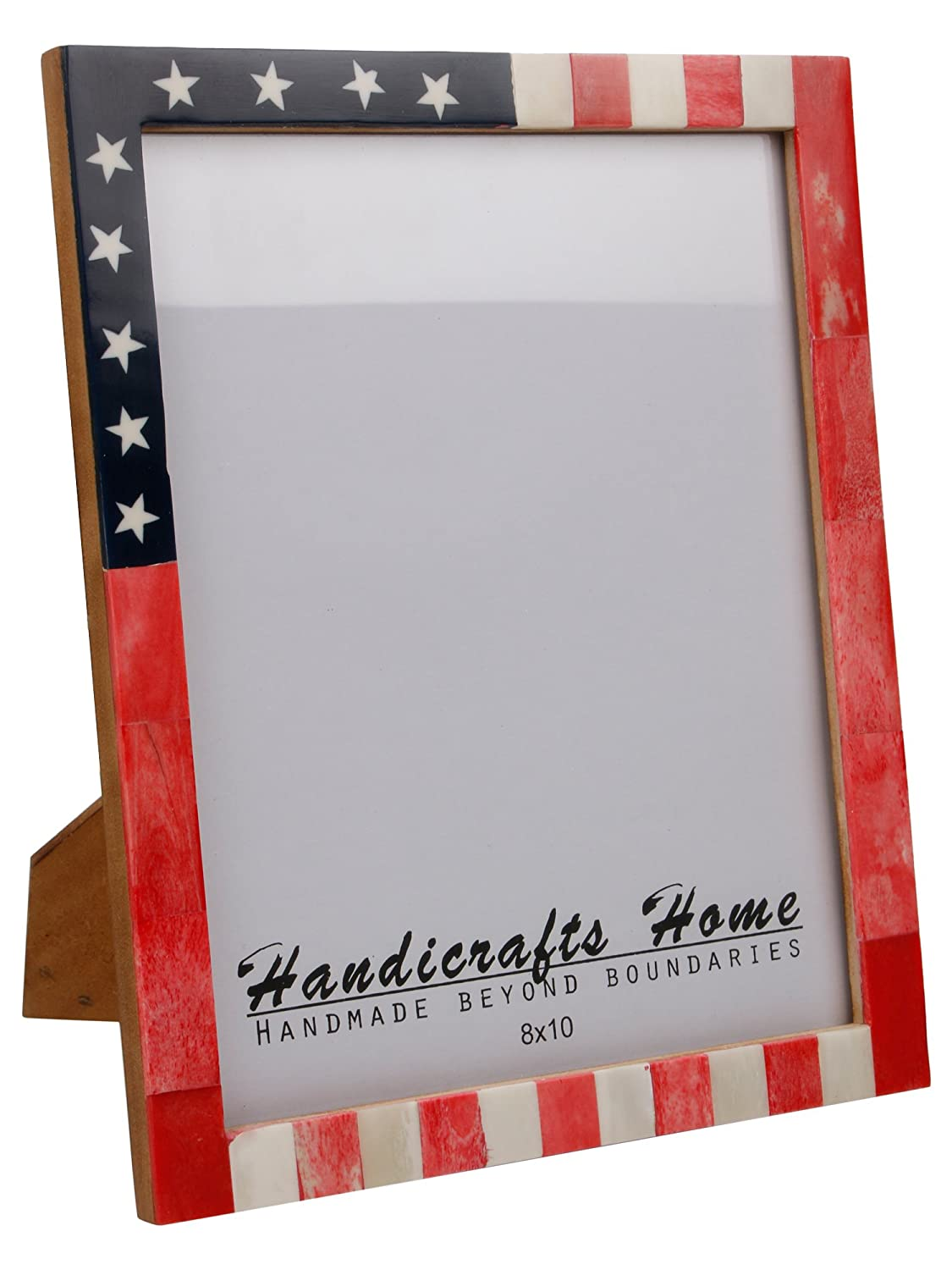 Amazoncom Handicrafts Home Usa American Flag Picture Photo Frame