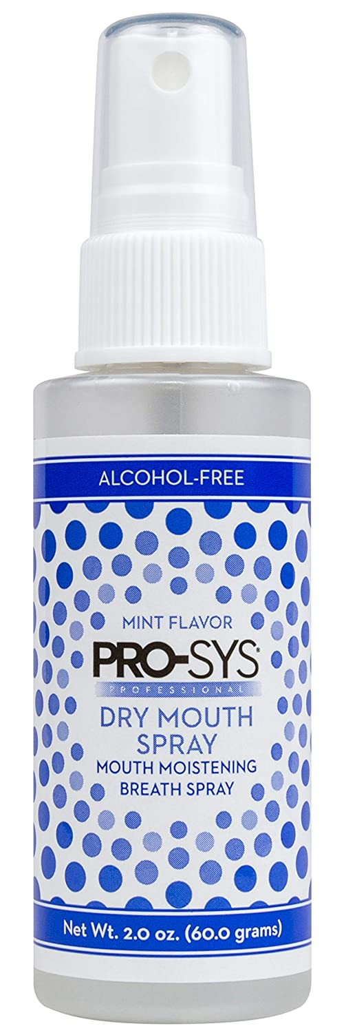 PRO-SYS Dry Mouth Spray, Alcohol-Free, Sugar-Free, Mild Mint, 2 fl. oz. – 1 Bottle