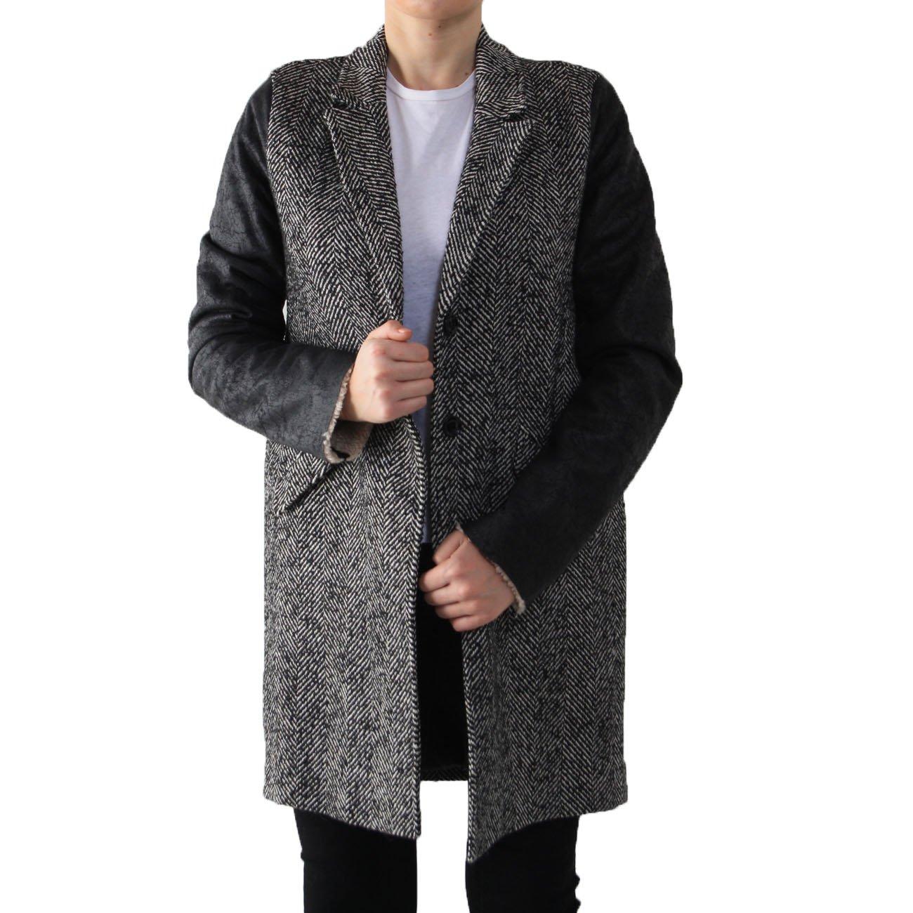 schwarz Imperial Damen Mantel Large schwarzweiß WeED29YHI