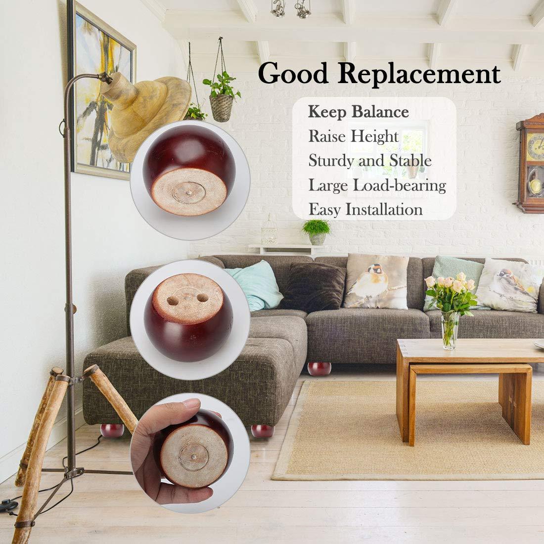 Sourcingmap - Patas redondas de madera maciza para muebles ...