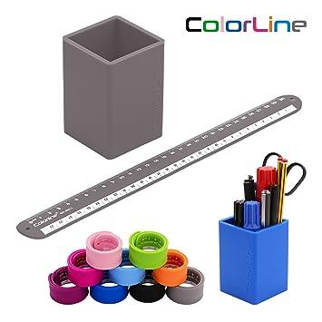 Colorline 29011 - Conjunto de Cubilete Porta Lápices y Regla ...