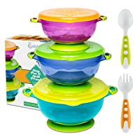 Best Suction Baby Bowls for Toddlers-Toddler Bowls Baby Feeding Set with Baby Utensils...
