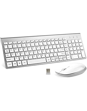 Wireless Keyboard and Mouse, FENIFOX USB Full Size Quiet Compact Compatible with iMac Mac PC