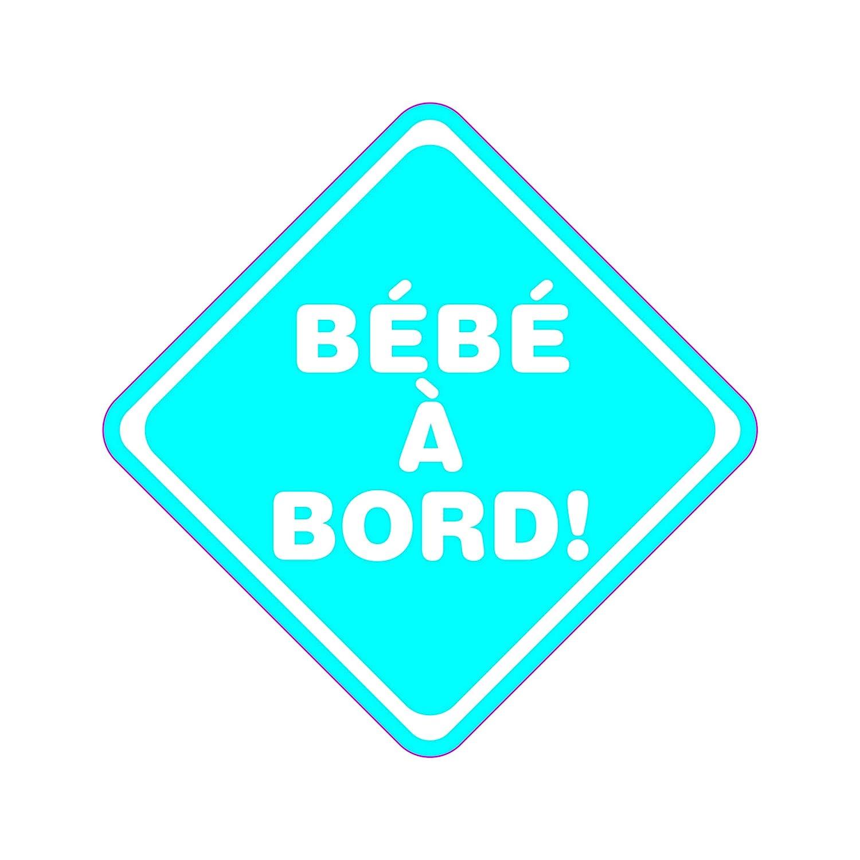 LOSANGE BLEU B/ÉB/É /À BORD VINYLE ADH/ÉSIF FABRICATION FRAN/ÇAISE TENUE 3 ANS MINIMUM