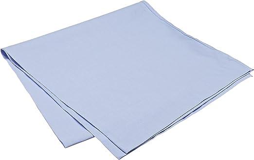 Pikolin Home - Almohadón, funda de almohada, 100% algodón, almohadas de 135 y 150cm, color azul claro (Todas las medidas): Amazon.es: Hogar