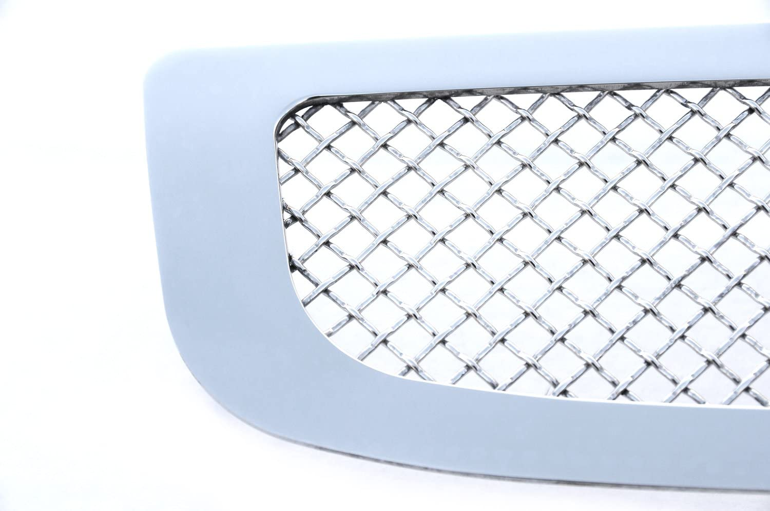 TRex Grilles 55183 Upper Class Small Mesh Stainless Polished Finish Bumper Grille Overlay for Cadillac Escalade EXT ESV