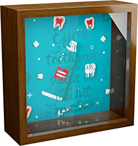 Dentist Gifts | 6x6x2 Memory Shadow Box | Themed Glass Fronted Keepsake Box for Dental Office Decor | Unique Funny Dental Gifts | Ideal Dentists Gifts for Women or Men